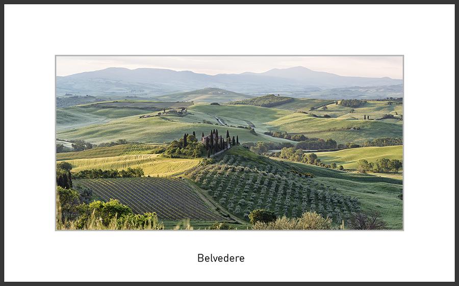 Podere Belvedere, das wohl am meisten fotografierte farmhouse in der Toskana, eingebunden in de Hügellandschaft bei Sonnenaufgang, One image from a previous Tuscany Photo-Workshop in Spring, Landscape Photo Workshop Tuscany, Toskanareise mit Ernst Merkhofer ,